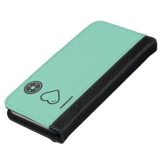 Amo las placas funda cartera para iPhone 6