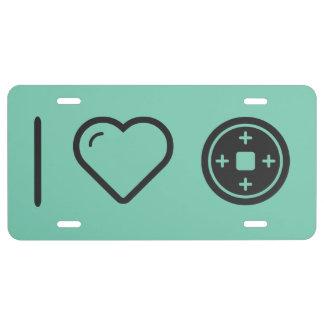 Amo las placas placa de matrícula
