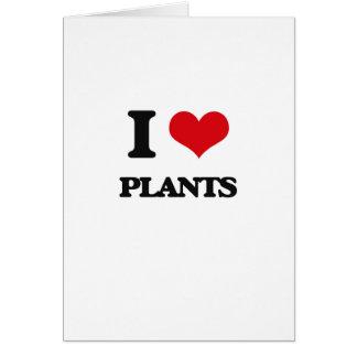 Amo las plantas felicitaciones