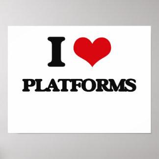 Amo las plataformas posters