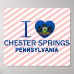 Amo las primaveras de Chester, PA Poster