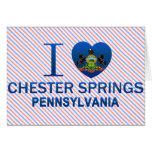 Amo las primaveras de Chester, PA Tarjeton