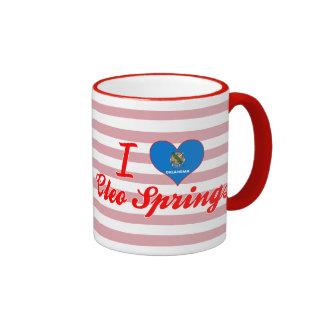 Amo las primaveras de Cleo, Oklahoma Tazas De Café