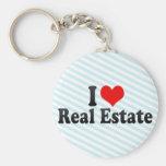 Amo las propiedades inmobiliarias llavero