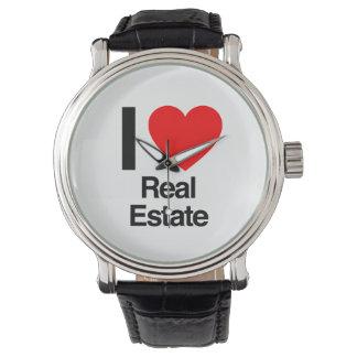 amo las propiedades inmobiliarias relojes de pulsera