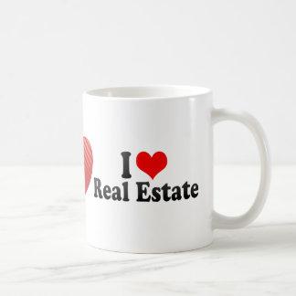 Amo las propiedades inmobiliarias taza