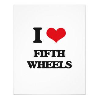 Amo las quintas ruedas folleto 11,4 x 14,2 cm