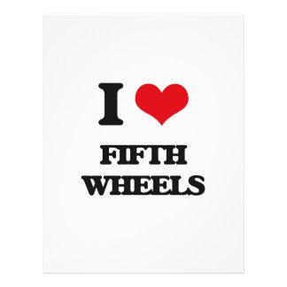 Amo las quintas ruedas folleto 21,6 x 28 cm