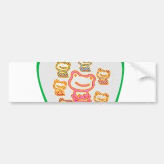 Amo las RANAS - apenas las ranas del juguete… Etiqueta De Parachoque