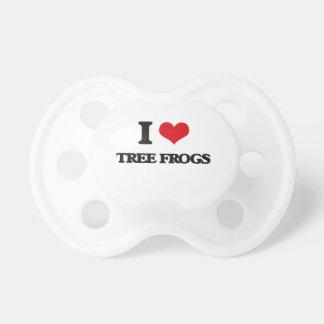 Amo las ranas arbóreas chupetes de bebe