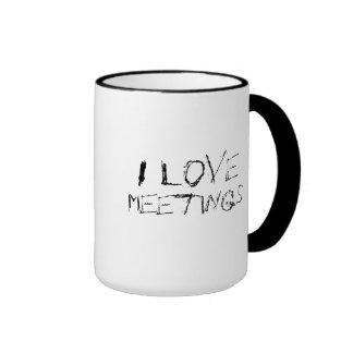 Amo las reuniones - urbanas, taza nerviosa del tra