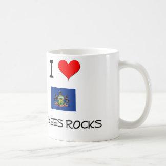 Amo las rocas Pennsylvania de Mckees Taza