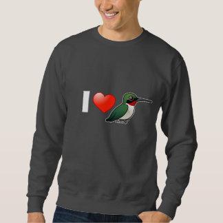 Amo las Rubí-gargantas Suéter