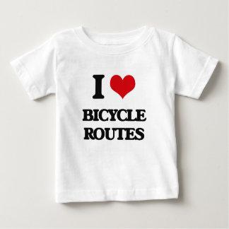 Amo las rutas de la bicicleta t-shirts