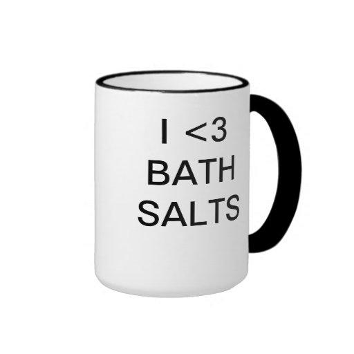 Amo las sales de baño taza a dos colores