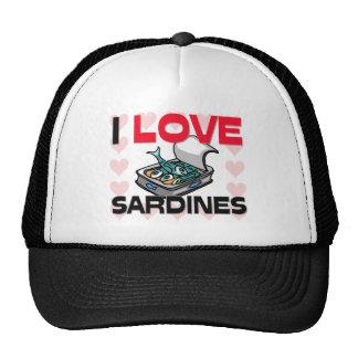 Amo las sardinas gorros