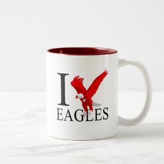 Amo las tazas de Eagles