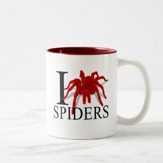 Amo las tazas de las arañas
