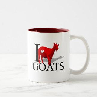 Amo las tazas de las cabras