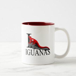 Amo las tazas de las iguanas