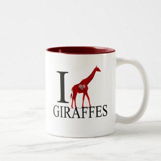 Amo las tazas de las jirafas