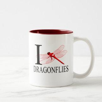 Amo las tazas de las libélulas