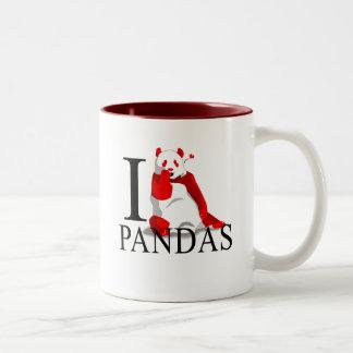 Amo las tazas de las pandas