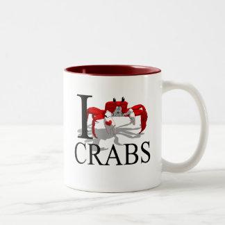 Amo las tazas de los cangrejos