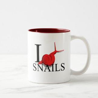 Amo las tazas de los caracoles