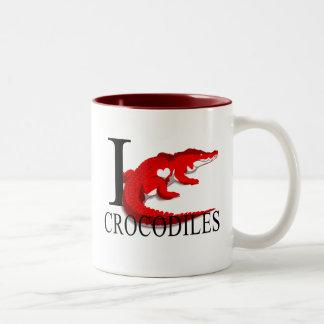 Amo las tazas de los cocodrilos
