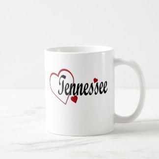 Amo las tazas de los corazones de Tennessee