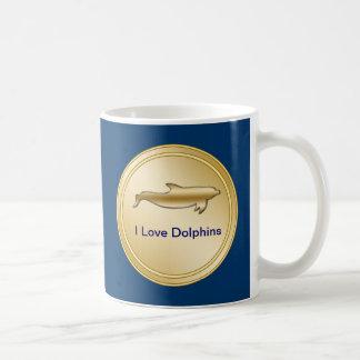 Amo las tazas de los delfínes