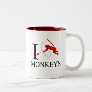 Amo las tazas de los monos