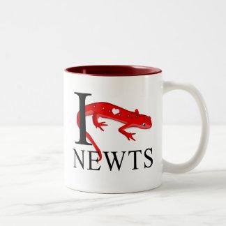 Amo las tazas de los Newts