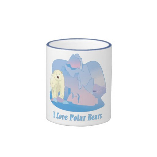 Amo las tazas de los osos polares
