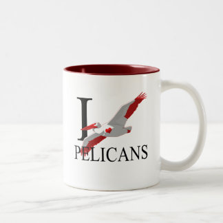 Amo las tazas de los pelícanos