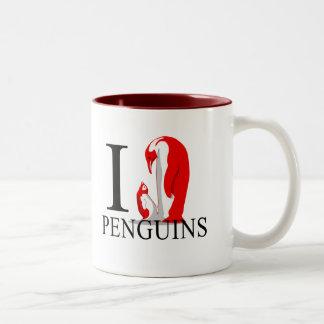 Amo las tazas de los pingüinos