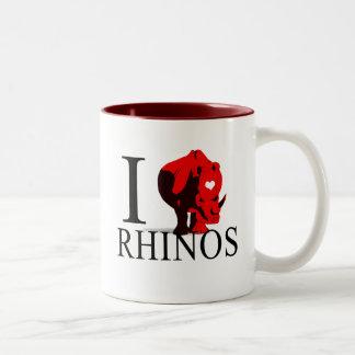 Amo las tazas de los Rhinos