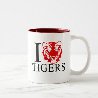 Amo las tazas de los tigres