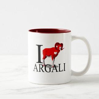 Amo las tazas del Argali