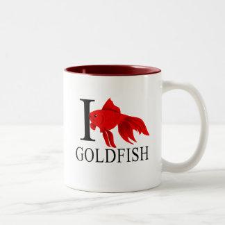 Amo las tazas del Goldfish