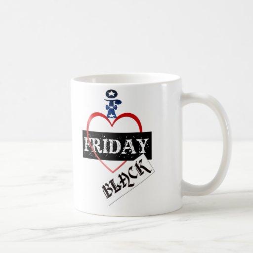 Amo las tazas negras de viernes
