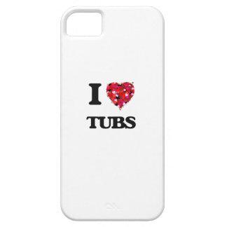 Amo las tinas iPhone 5 carcasa