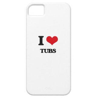 Amo las tinas iPhone 5 carcasas