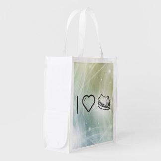 Amo las toallas de papel bolsas de la compra