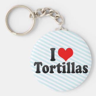 Amo las tortillas llaveros personalizados