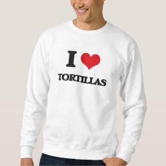 Amo las tortillas sudaderas encapuchadas