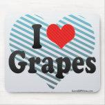 Amo las uvas tapete de raton