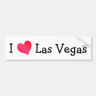 Amo Las Vegas Etiqueta De Parachoque