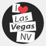 Amo Las Vegas nanovoltio Pegatinas Redondas